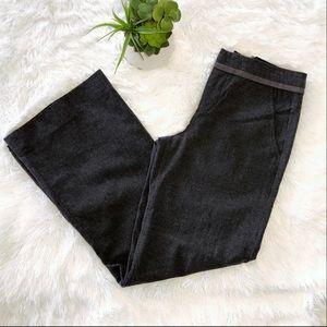 VINCE CHARCOAL GRAY WIDE LEG WOOL PANTS